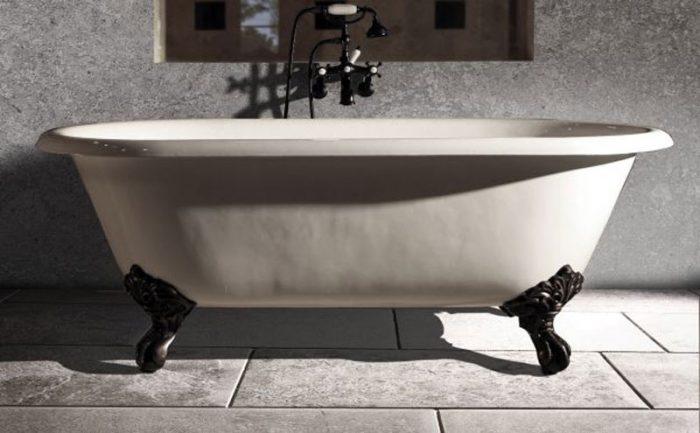 חיפוי רצפת אמבטיה בשיש אפור